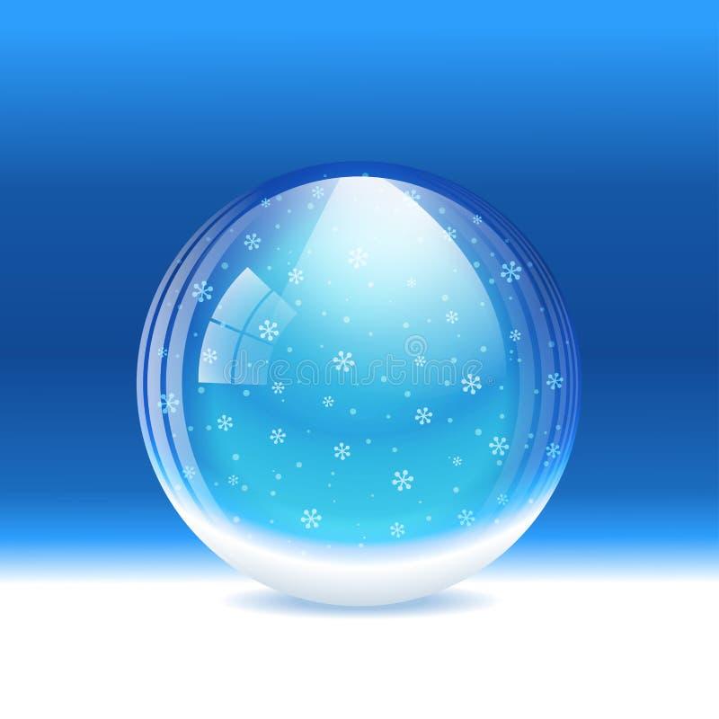Vector snow globe royalty free illustration