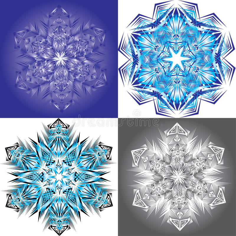 Vector Snowflake On A Black Background Stock Photography
