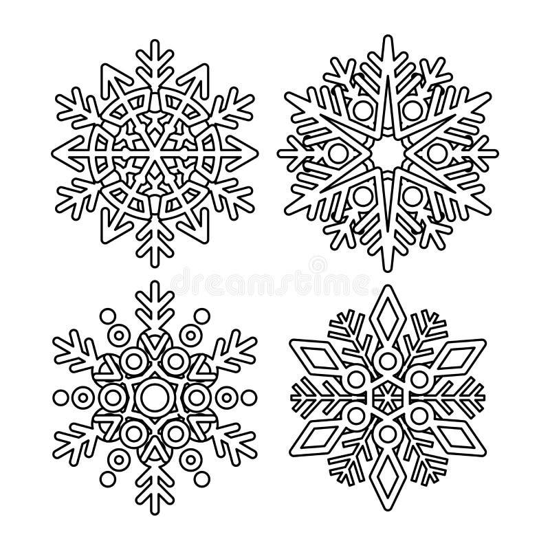 vector snowflake collection stock vector illustration of season