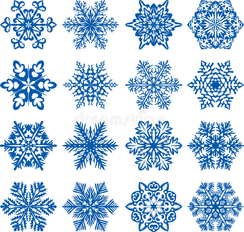 Download Vector Snowflakes Royalty Free Stock Photography - Image: 23398947