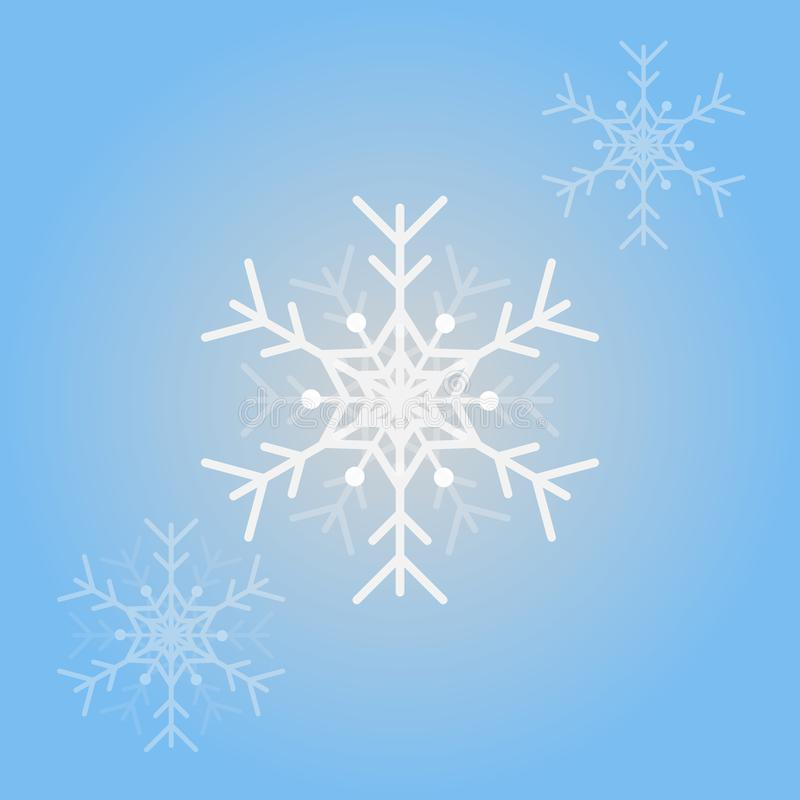 Vector snowflakes  for Christmas design. Isolated Snowflakes Background royalty free illustration
