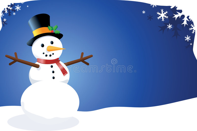 Vector Snowman royalty free illustration
