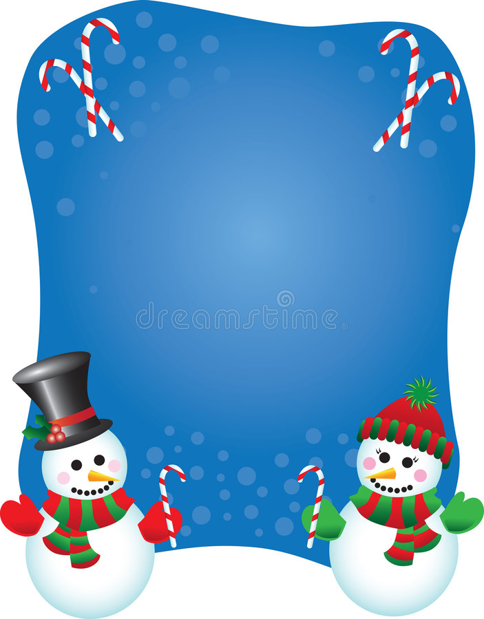 Vector snowpeople background stock images