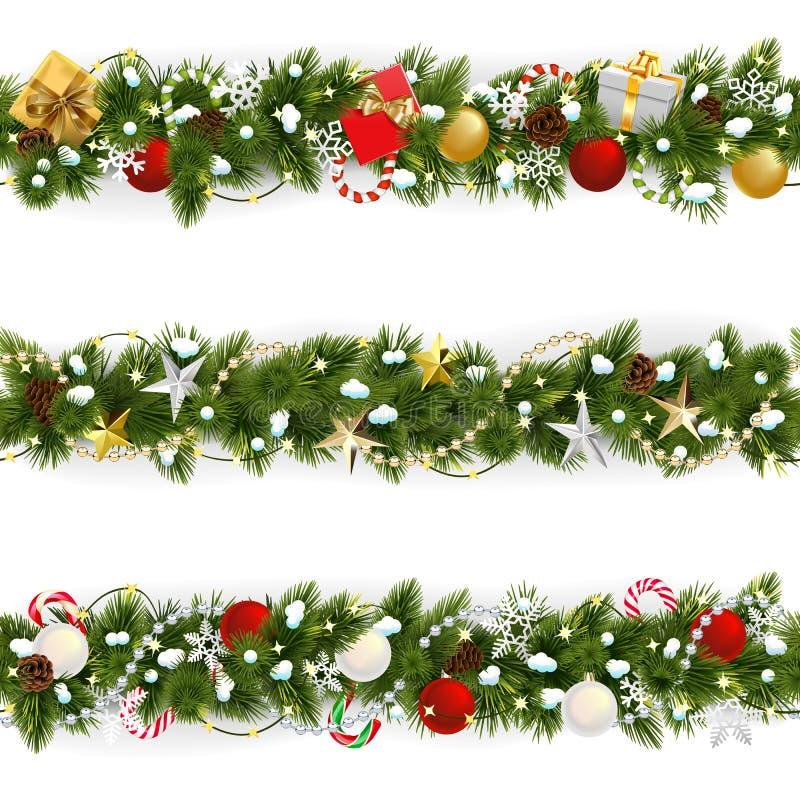 Free Vector Snowy Christmas Pine Border Stock Image - 162848231