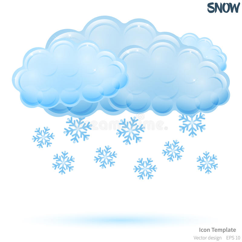 Vector snowy icon template royalty free illustration