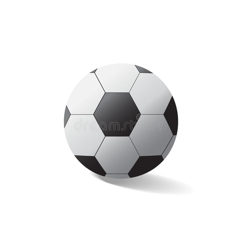 Vector soccer ball isolated on white background. Is a general illustration royalty free illustration