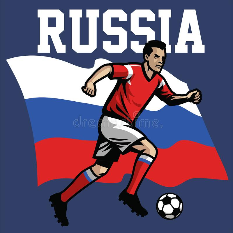 Soccer player of russia stock illustration