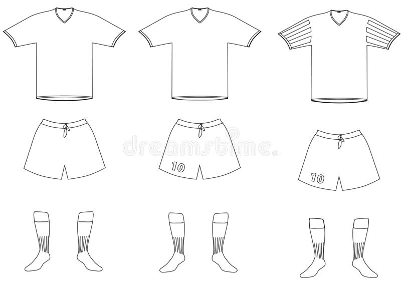 Vector soccer player uniform vector illustration