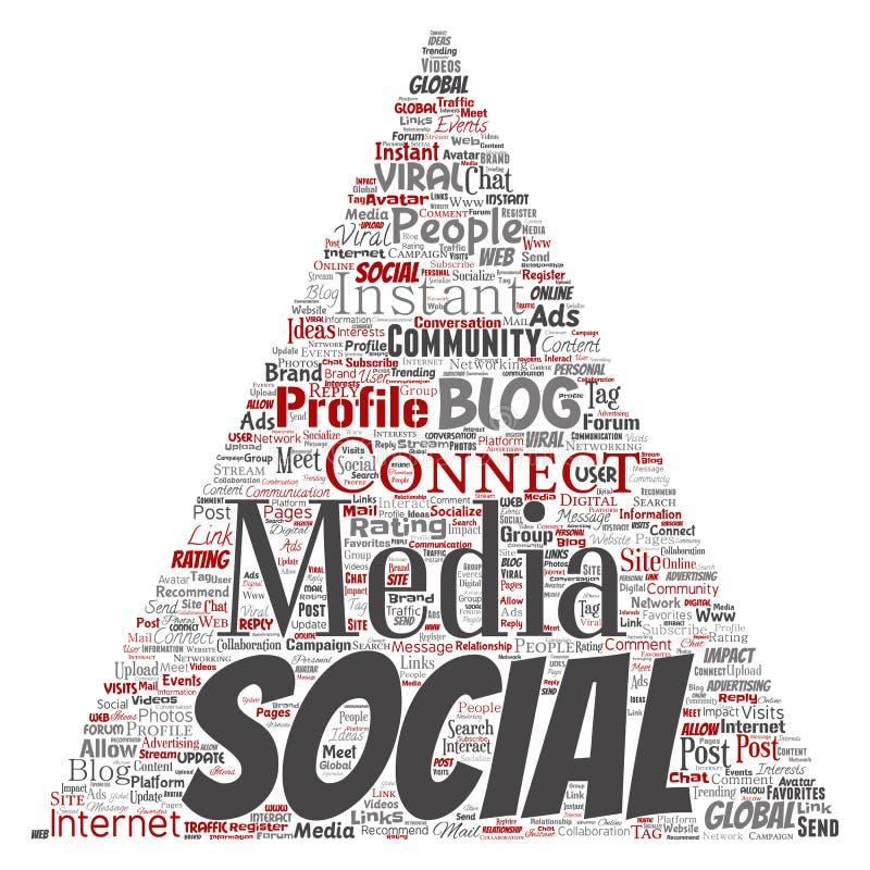 Vector sociaal media voorzien van een netwerk communicatie Web vector illustratie