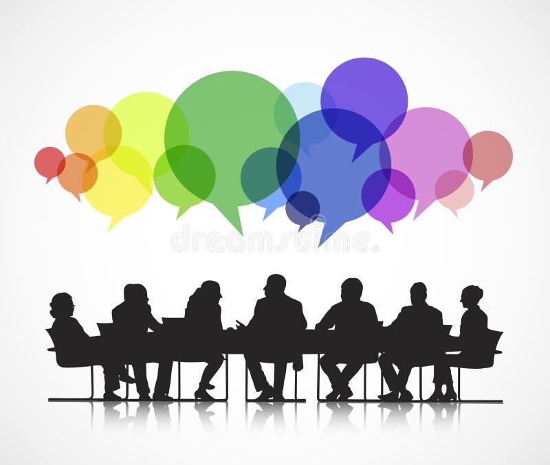 Vector social de la reunión de negocios libre illustration