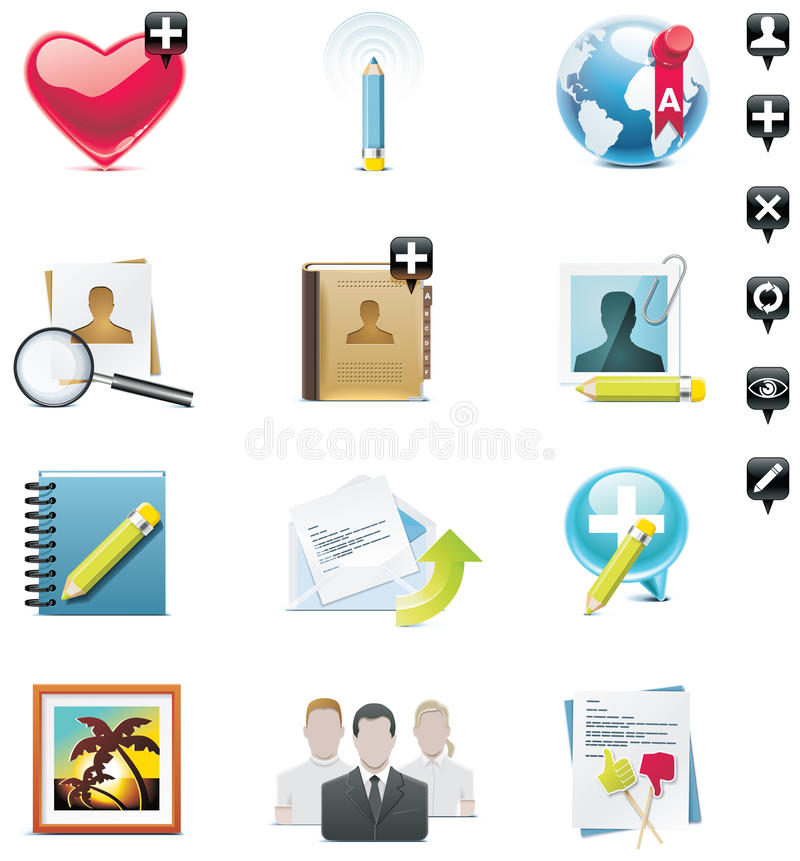 Free Vector Social Media Icon Set Royalty Free Stock Photography - 14893287