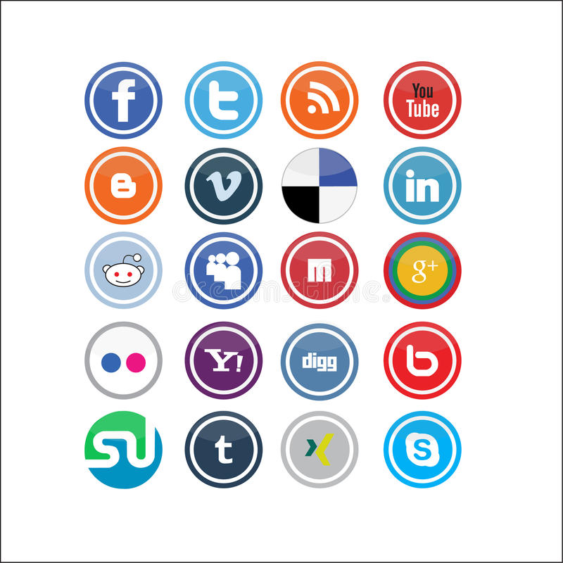Vector Social Media Icons 2 royalty free illustration
