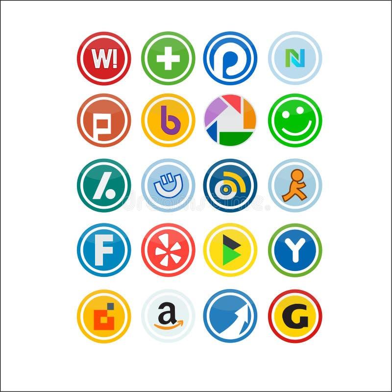 Vector Social Media Icons 3 royalty free illustration