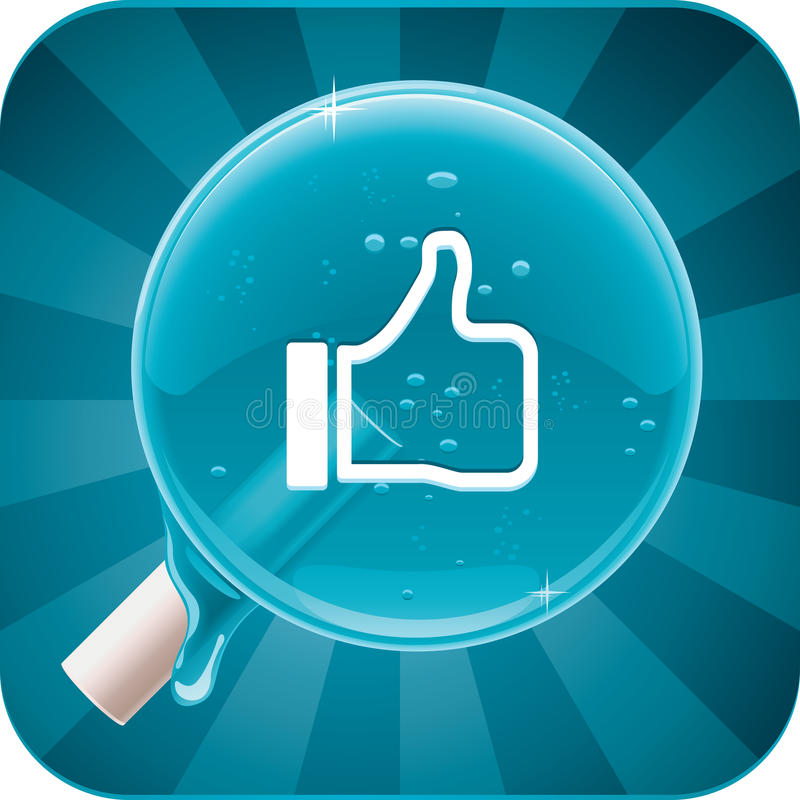 Vector social media lollipop. Square icon representing social media lollipop stock illustration