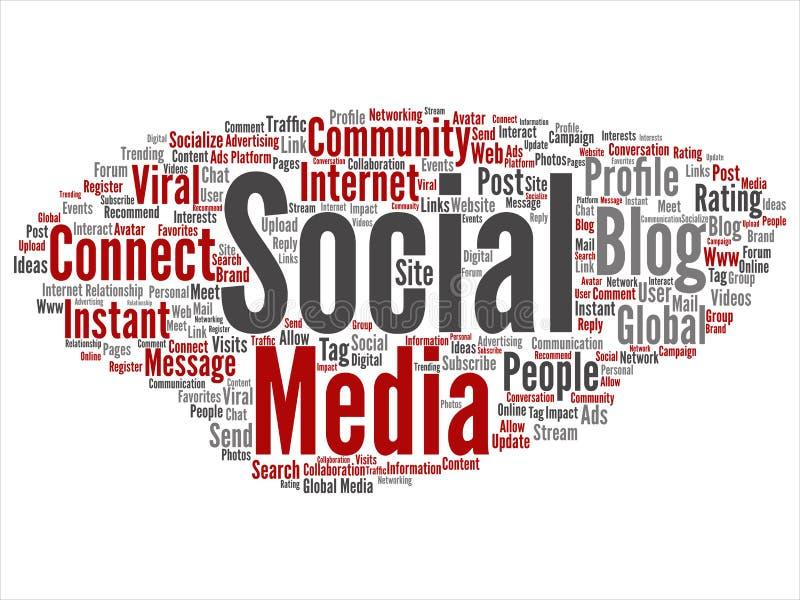 Vector sociale media voorzien van een netwerk of mededeling vector illustratie
