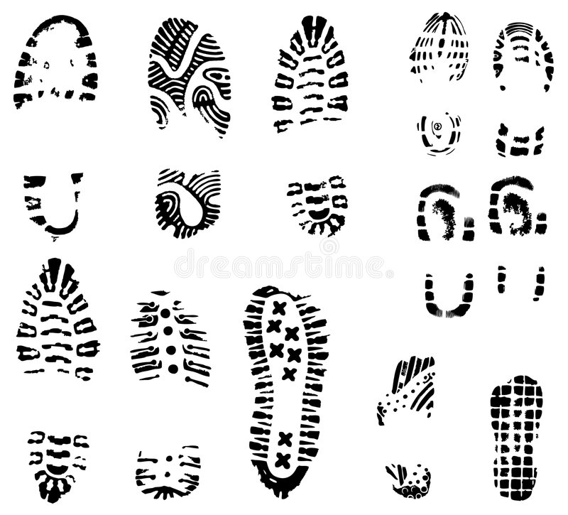 Free Vector Sole Prints Royalty Free Stock Photos - 3291548