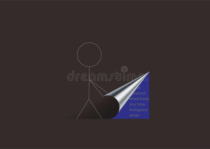 Vector of the person icon stock illustration