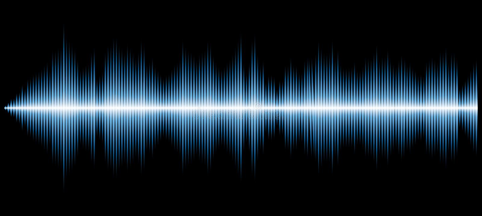 Sound diagram blue vector illustration
