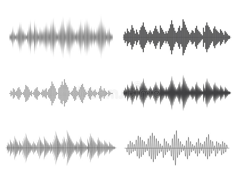 Vector sound waves. Music Digital Equalizer. vector illustration
