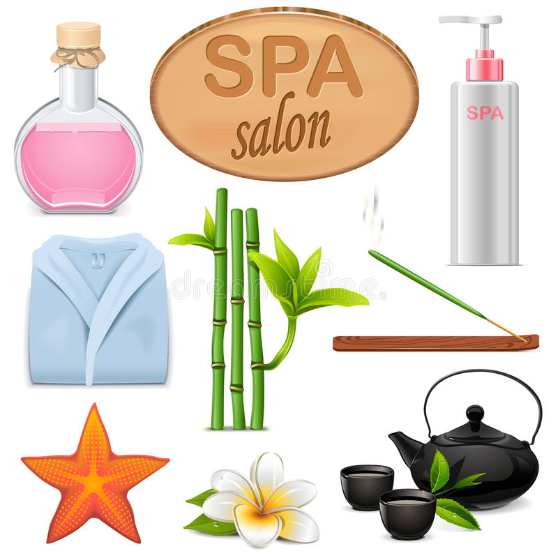 Free Vector SPA Icons Set 3 Stock Image - 70488121