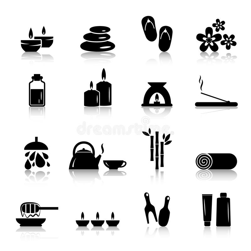 Vector spa and relaxation icons stock illustration