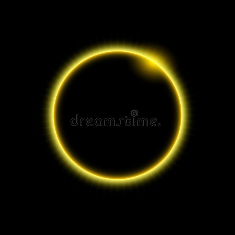 Vector space background and solar eclipse. General illustration royalty free illustration