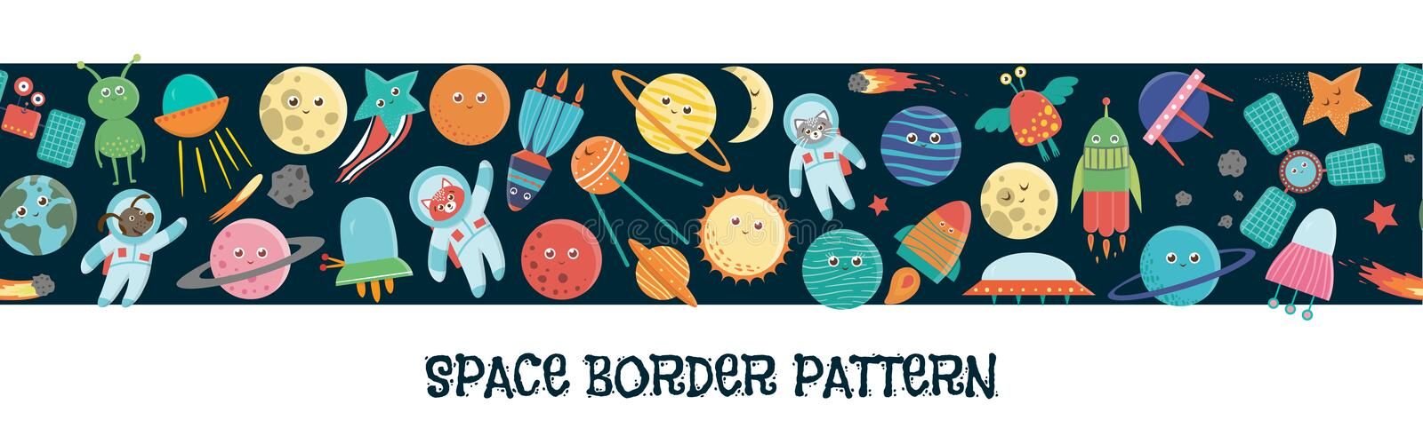 Vector space border pattern royalty free illustration