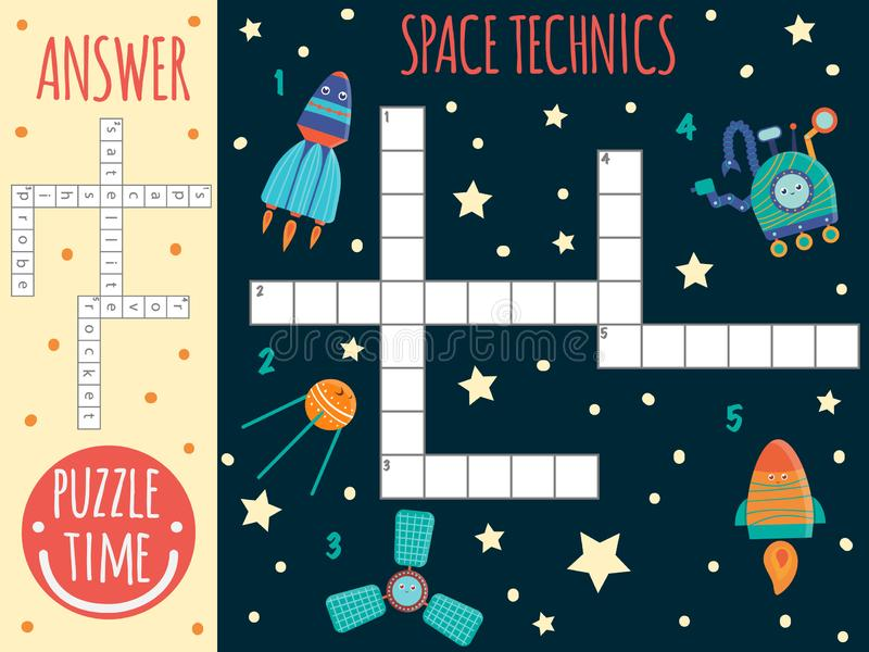 Vector space crossword stock illustration
