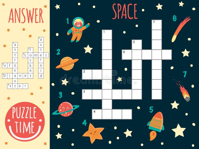 Vector space crossword. royalty free illustration