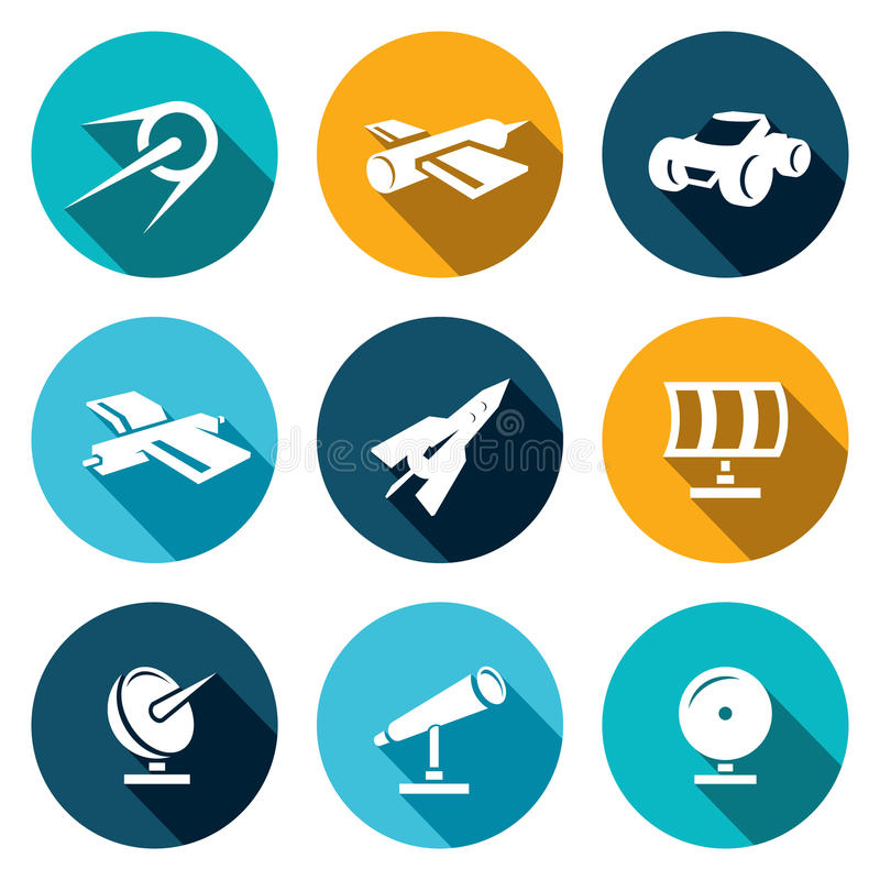 Free Vector Space Icons Set Stock Photography - 44660862