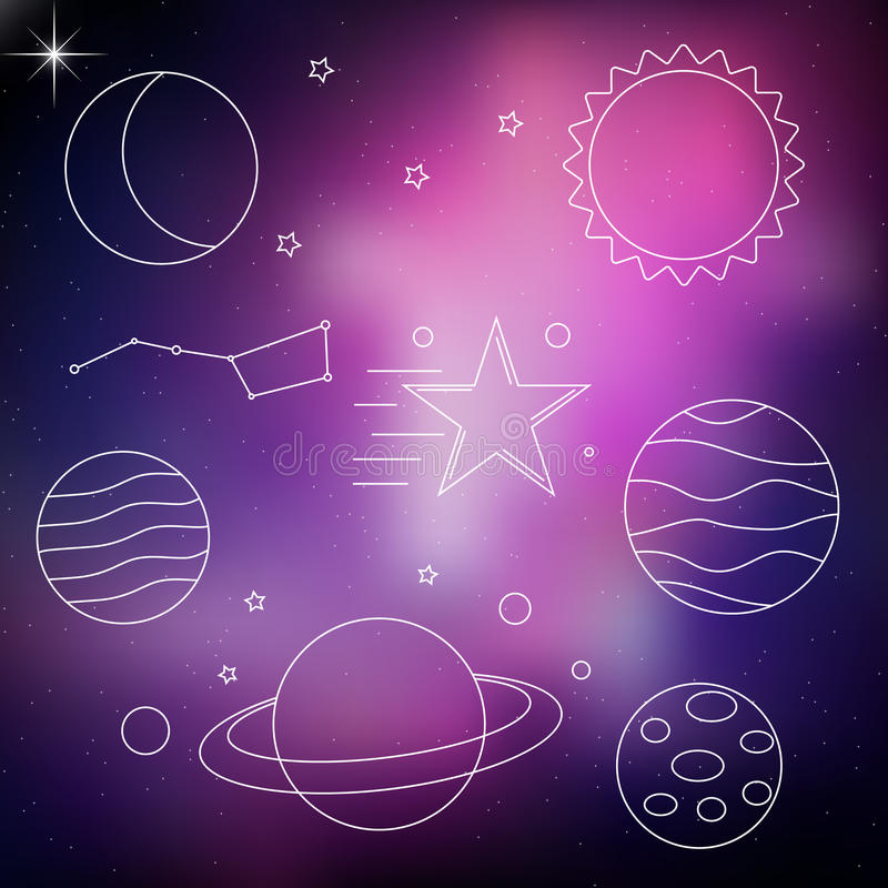 Vector space illustration vector illustration