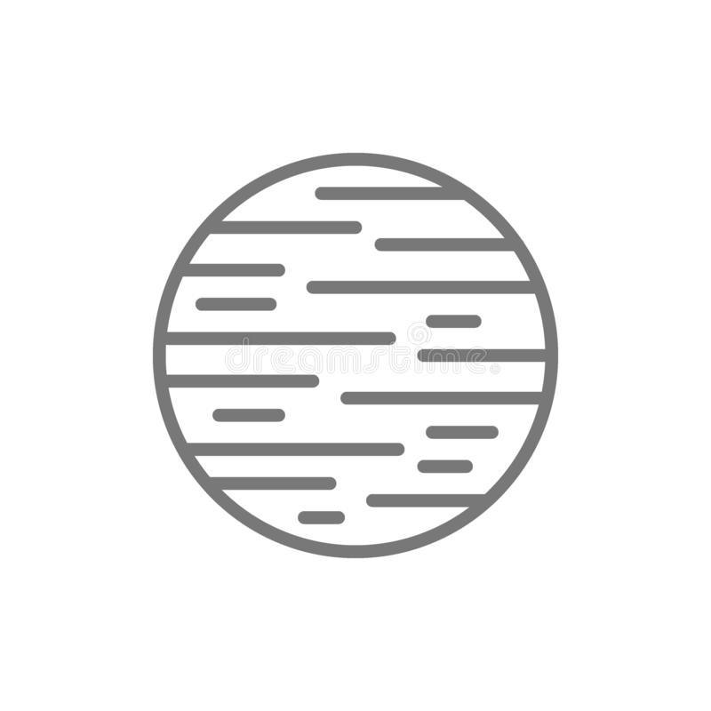 Space planet line icon. vector illustration