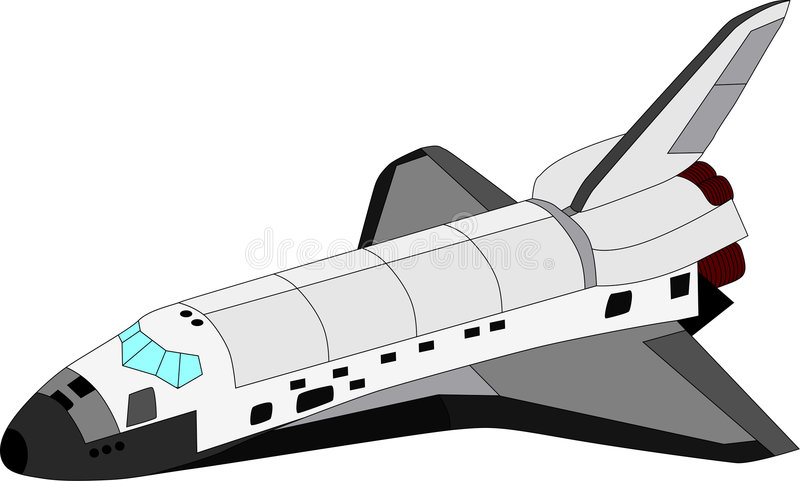 Vector space shuttle royalty free illustration