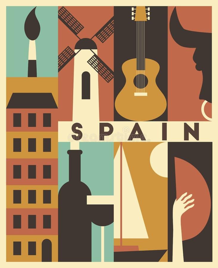 Vector Spain background vector illustration