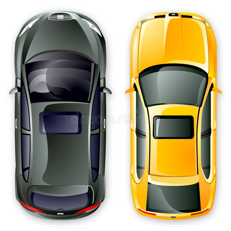 Vector spanish cars. royalty free stock images