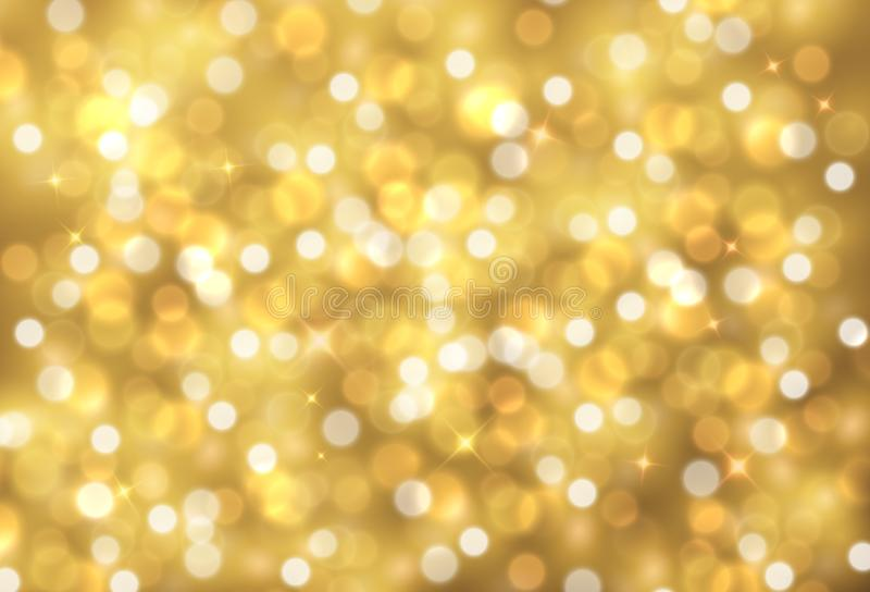 Vector sparkling golden abstract decorative background stock illustration