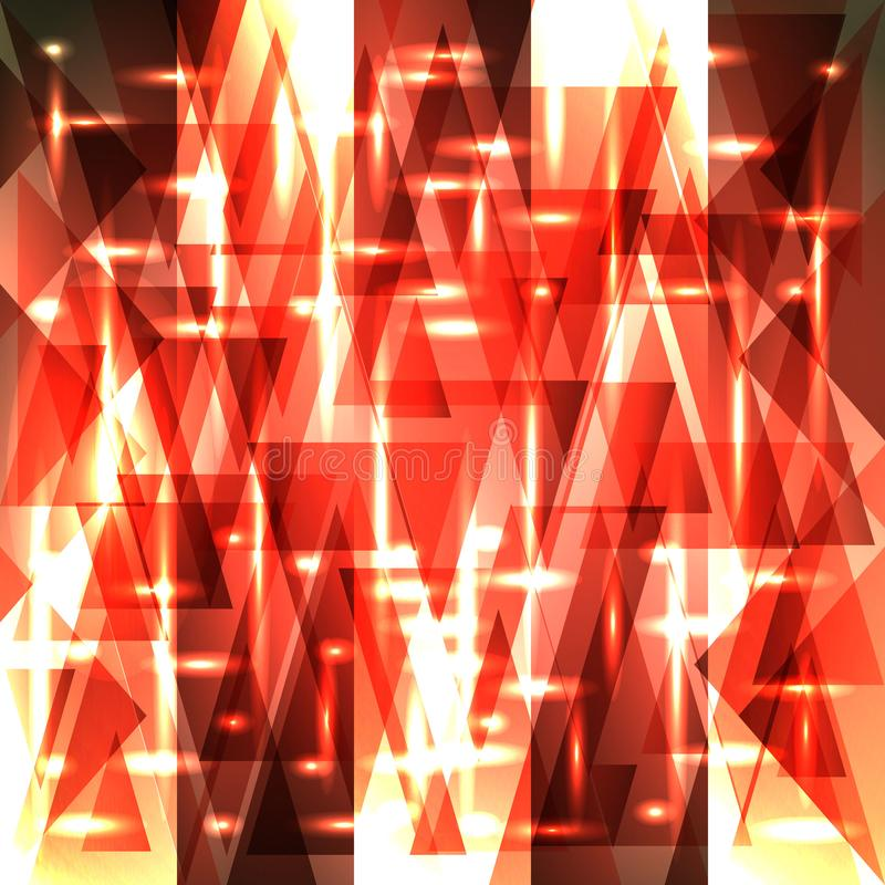 Vector sparkling pattern of delicate red fragments and triangles royalty free illustration