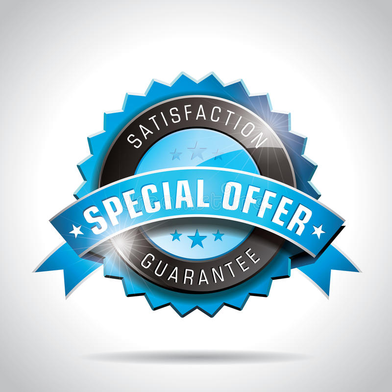 Free Vector Special Offer Labels Illustration With Shiny Styled Design On A Clear Background. EPS 10. Stock Photos - 29112723