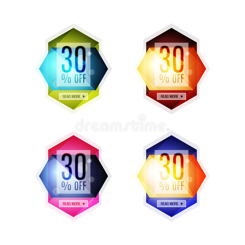 Vector special offer stickers and banners. Sale tags, labels or advertising special offer templates. Icon set vector illustration