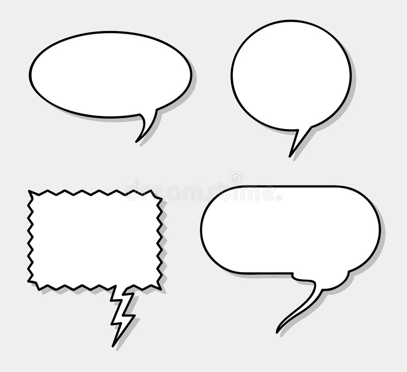 Free Vector Speech Balloons! Add Your Own Text! Royalty Free Stock Images - 6031799