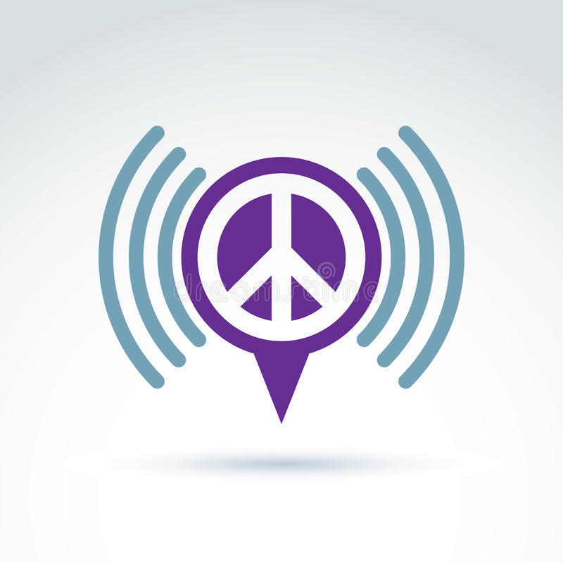 Vector Speech Bubble With Peace Symbol From 60th Podcast Sign O