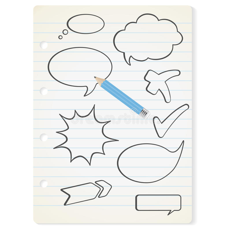 Download Vector Speech Bubbles On The Paper Stock Vector - Image: 15979457