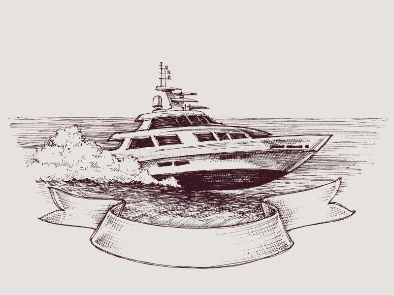 Vector speed boat royalty free illustration