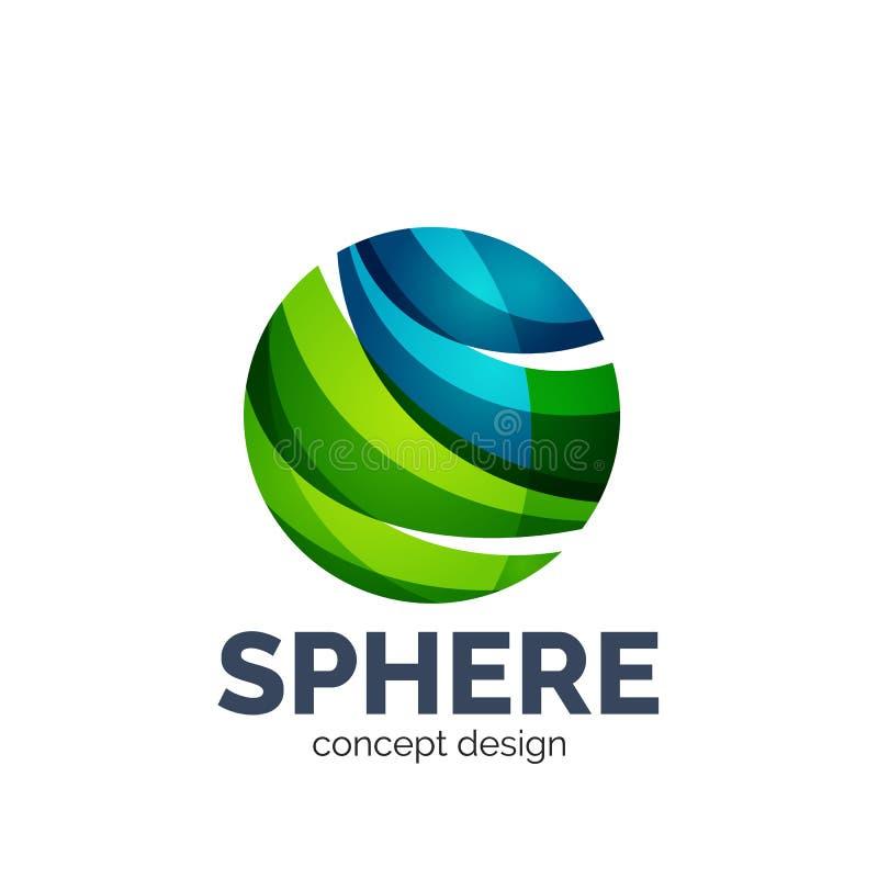 Dot Sphere Logo Template Globe Vector Icon:  Vector Sphere Abstract Logo Template Stock Vector