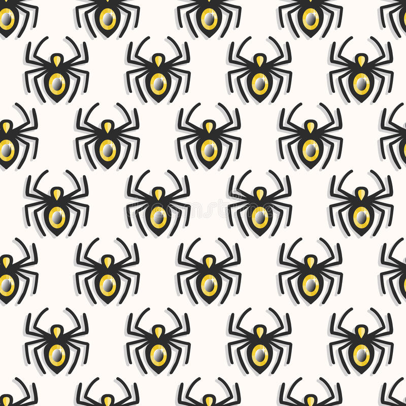 Vector spiders seamless pattern stock photos