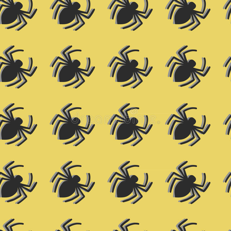 Vector spiders seamless pattern stock images