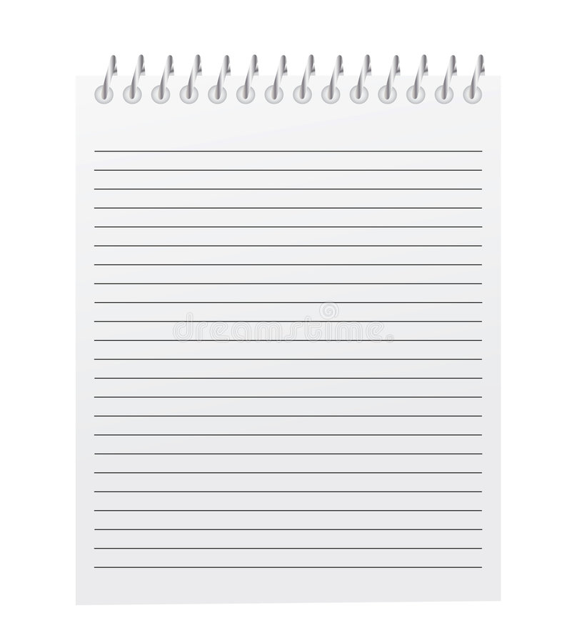 Download Vector Spiral Bound Notepad Stock Vector - Illustration: 9206753