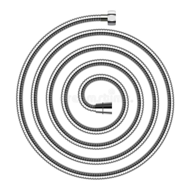 Free Vector Spiral Shaped Shower Hose Isolated On White Background. Royalty Free Stock Image - 113139606