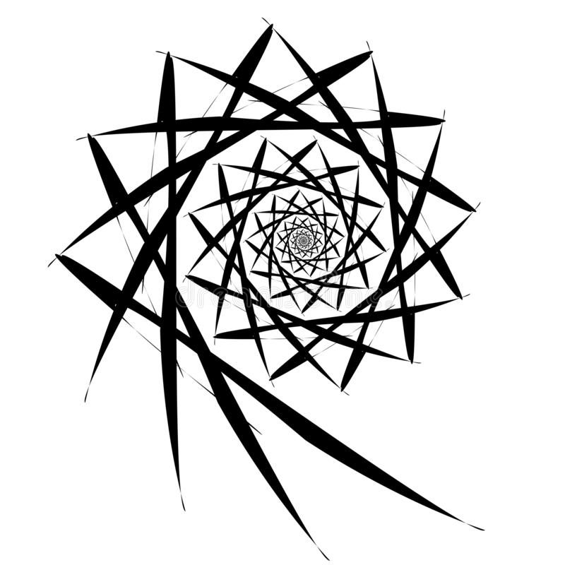 Vector spiral on white background. Hypnosis effect, abstract pattern. royalty free illustration