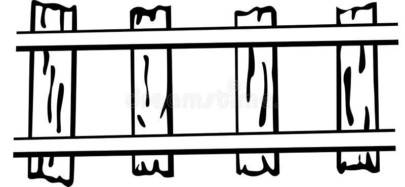 Vector spoorweg of treinsporenillustratie vector illustratie